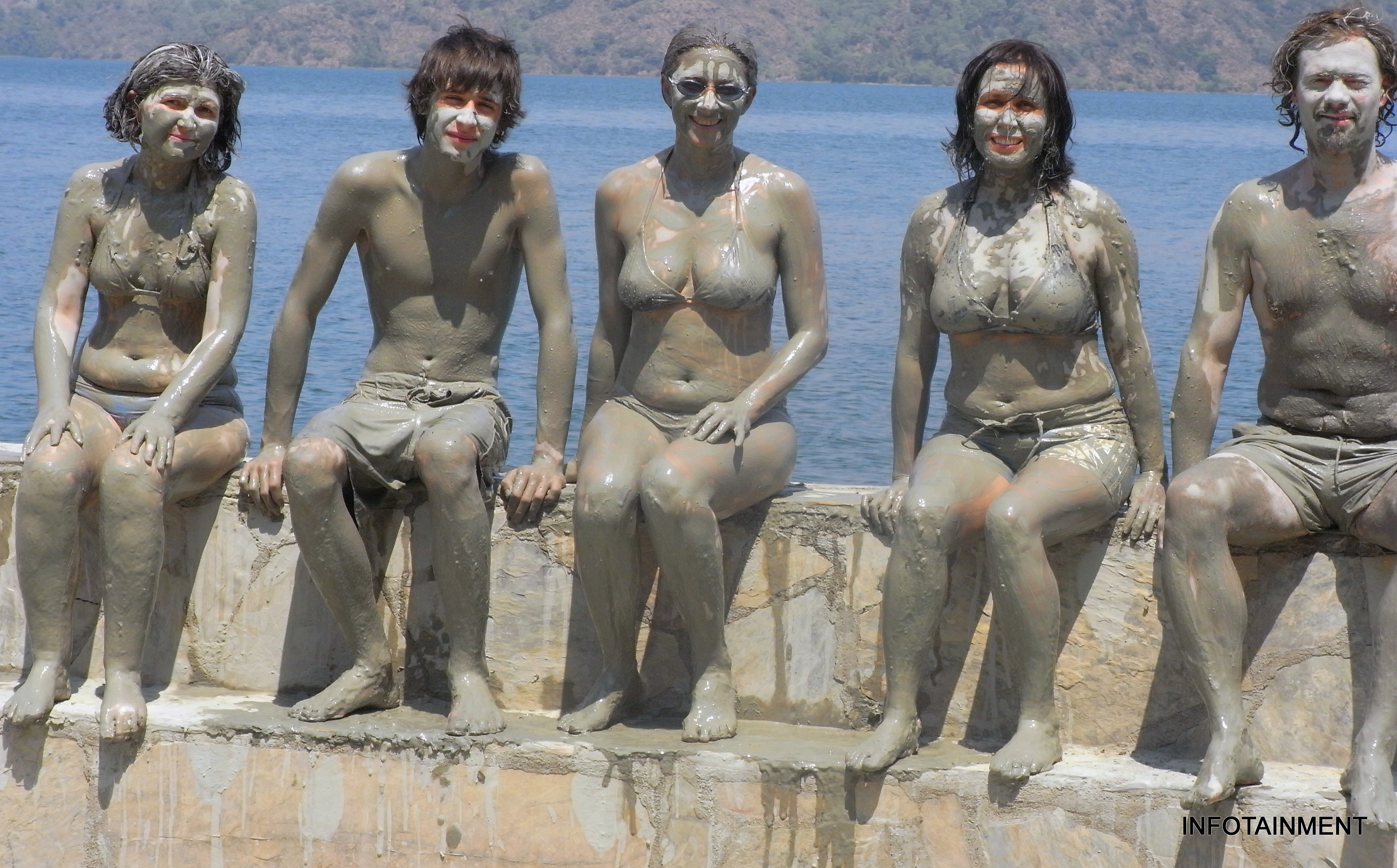 Remarkable, Nudist mud bath